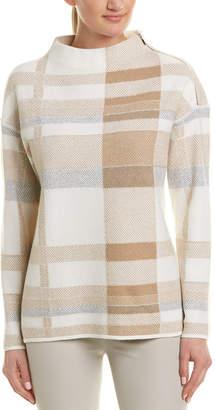 Lafayette 148 New York Plaid Wool Sweater