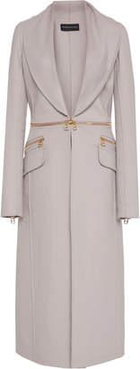 Brandon Maxwell Shawl-Collar Removable-Hem Wool Coat