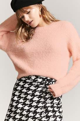 Forever 21 Brushed Waffle-Knit Top