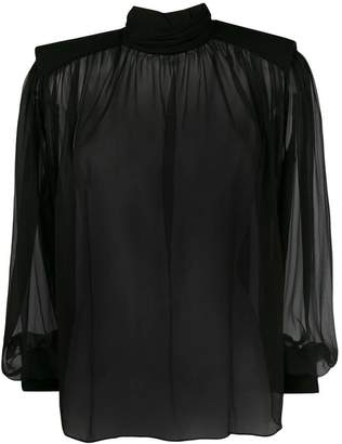 Alberta Ferretti transparent silk blouse