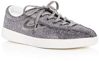 Tretorn Women's Nylite Plus Glitter Lace Up Sneakers