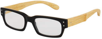 Eyebobs Oh Shoot Square Acetate/Bamboo Reading Glasses, +1.25