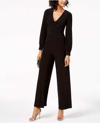 34fbdcb11096 at Macy s · Adrianna Papell Surplice Matte Jersey Jumpsuit