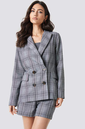 Na Kd Classic Checked Double Breasted Blazer