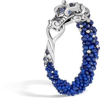 John Hardy Naga Multi Row Bracelet With Lapis Lazuli, Blue Sapphire
