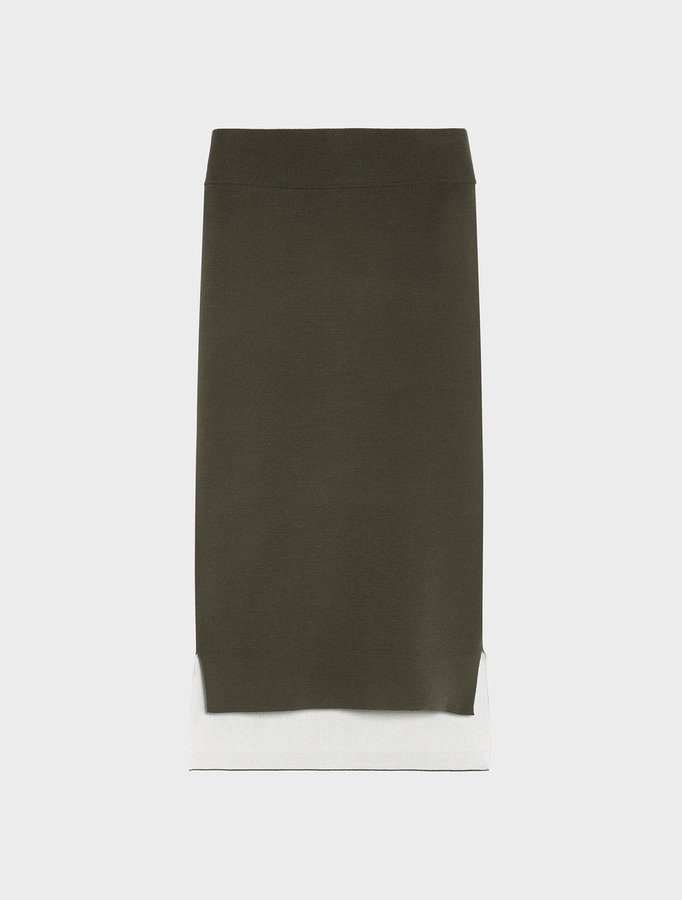 DKNY Reversible Midi Skirt With Step Hem