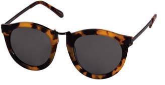 Karen Walker Harvest Round Tortoise Plastic Sunglasses