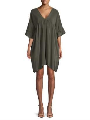 Gold Hawk Women's Silk Smock Mini Dress