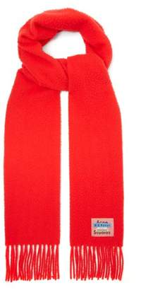 Acne Studios Bla Konst Holmes Wool Scarf - Womens - Red