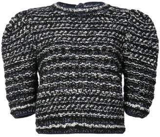 ADAM by Adam Lippes puff sleeve tweed sweater