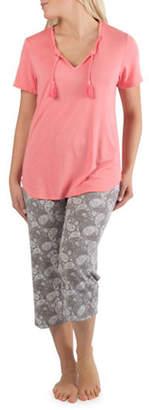 Claudel Tassel Top and Paisley Capri Pyjama Set