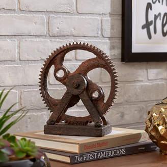 Mercury Row Solorio Rusted Gear Sculpture