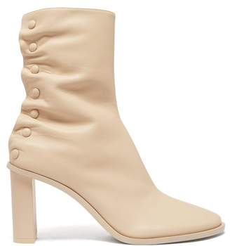 The Row Tea Time Leather Ankle Boots - Womens - Beige
