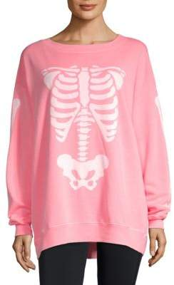 Wildfox Couture Graphic Long-Sleeve Sweater