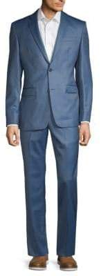Versace Solid Wool Suit