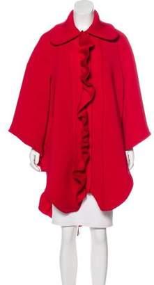 Nicopanda Ruffled Neoprene Coat