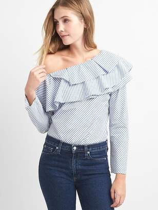 One-shoulder ruffle top $64.95 thestylecure.com