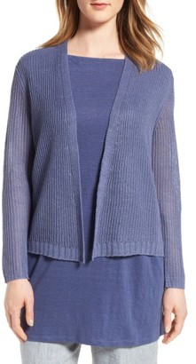 Women's Eileen Fisher Boxy Organic Linen Cardigan $188 thestylecure.com
