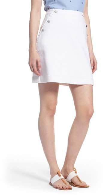 1901 Button Detail Denim Skirt