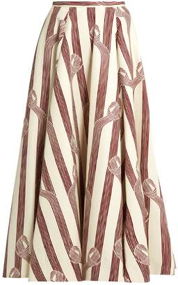 Emilia Wickstead Eleanor linear-print midi skirt