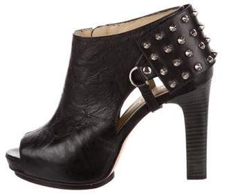 Be & D Spiked Leather Boots