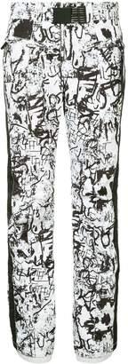 Kru graffiti print ski pants