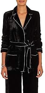 Barneys New York Women's Velvet Robe Jacket - Black