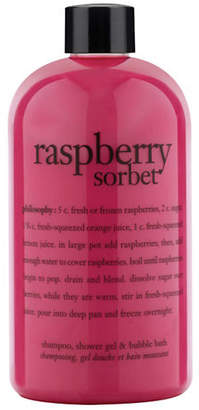 philosophy raspberry sorbet shampoo, shower gel and bubble bath gift with purchase