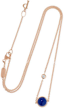 Piaget Possession 18-karat Rose Gold, Lapis Lazuli And Diamond Necklace