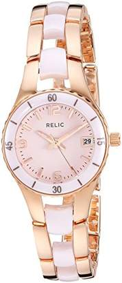 Relic Women's Charlotte Quartz Stainless Steel and Ceramic Dress Watch
