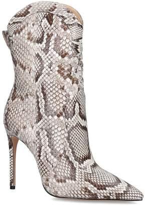 Alexandre Birman Snakeskin Esther Ankle Boots 10