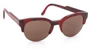 Stella McCartney Oversized Round Rimless Sunglasses