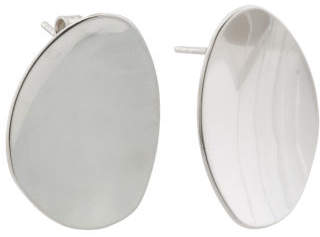 Made In Italy Sterling Silver Organic Shaped Earrings