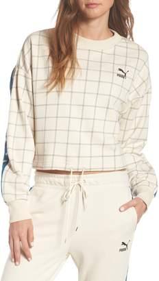 Puma Revolt Mock Neck Crop Sweatshirt