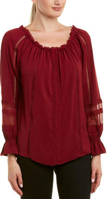 Ramy Brook Thea Silk-Trim Top