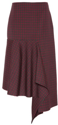 a4903a1601 Balenciaga Checked wool midi skirt