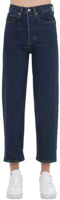 Levi's Cropped High Rise Stretch Denim Jeans
