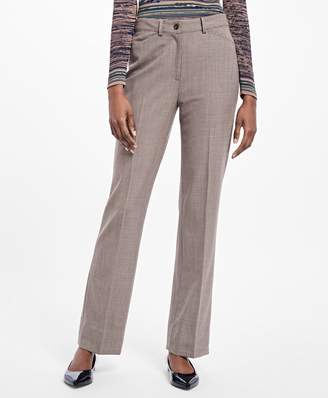 Brooks Brothers Flared Twill Houndstooth Trousers