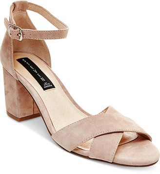 STEVEN by Steve Madden Voomme Ankle-Strap Block Heel Dress Sandals $99 thestylecure.com