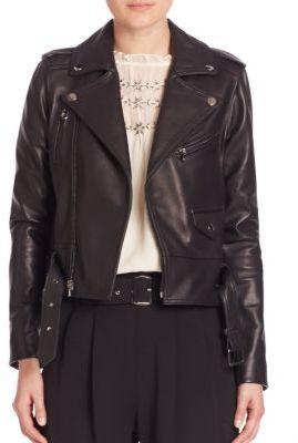 Parker Cooper Leather Moto Jacket $610 thestylecure.com