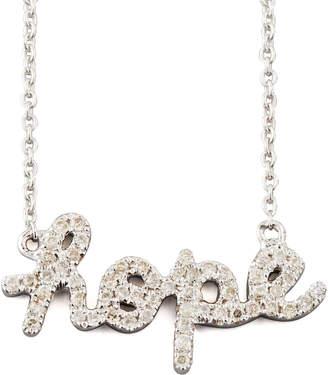 Sydney Evan Diamond Hope Necklace, White Gold