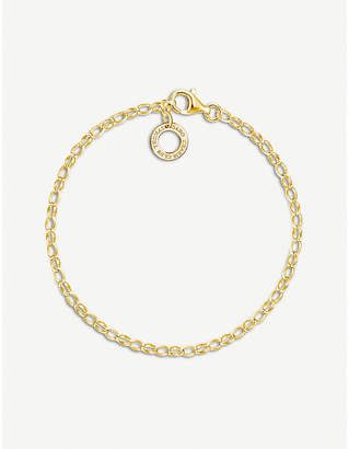 Thomas Sabo 18ct yellow-gold plated charm bracelet