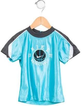 Nike Boys' Short Sleeve Mesh-Trimmed Shirt