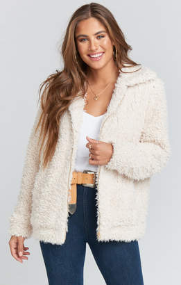 Show Me Your Mumu Sheldon Bomber Jacket ~ Shortbread Shearling