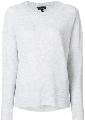 Theory side-slit cashmere jumper