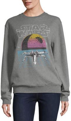 Star Wars Hybrid Tees Womens Crew Neck Long Sleeve Sweatshirt Juniors