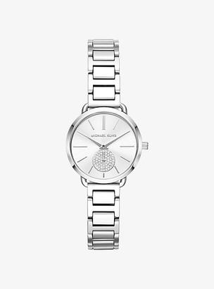 Michael Kors Petite Portia Silver-Tone Watch