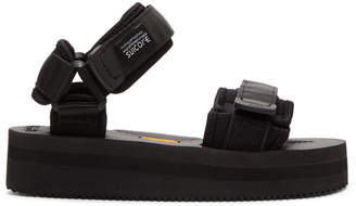 Suicoke Black Cel Platform Sandals