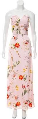 Ted Baker Strapless Floral Midi Dress