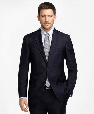 Brooks Brothers Madison Fit Navy with Light Blue Pinstripe 1818 Suit